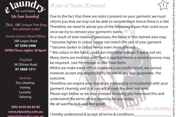 Risks of Stain Removal