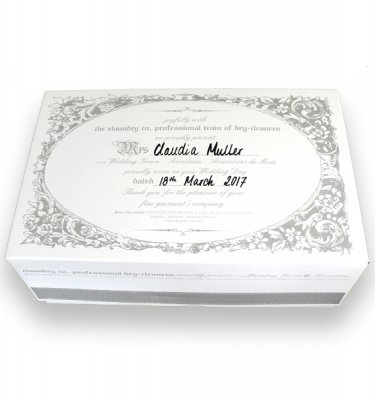 Wedding Presentation box white background SQUARE web size