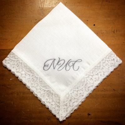 Irish Linen Handkerchief Initials