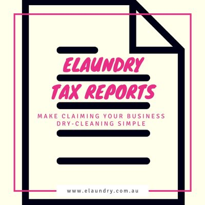 elaundry dry cleaning tax report artwork