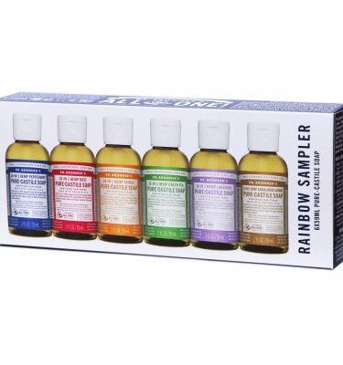 Dr Bronner Castile Soap Rainbow Sampler