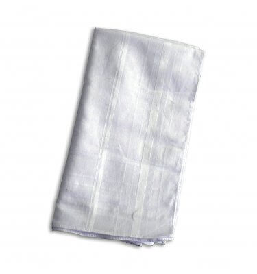 White cotton mens handkerchief
